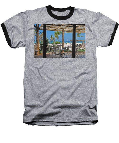 Playa Blanca Restaurant Bar Area Punta Cana Dominican Republic Baseball T-Shirt