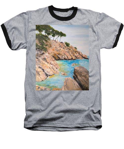 Playa De Aro Baseball T-Shirt by Marilyn Zalatan
