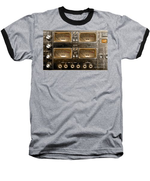 Playback Recording Vu Meters Grunge Baseball T-Shirt