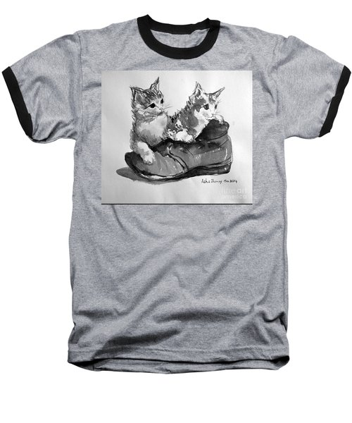 Playful Kittens Baseball T-Shirt