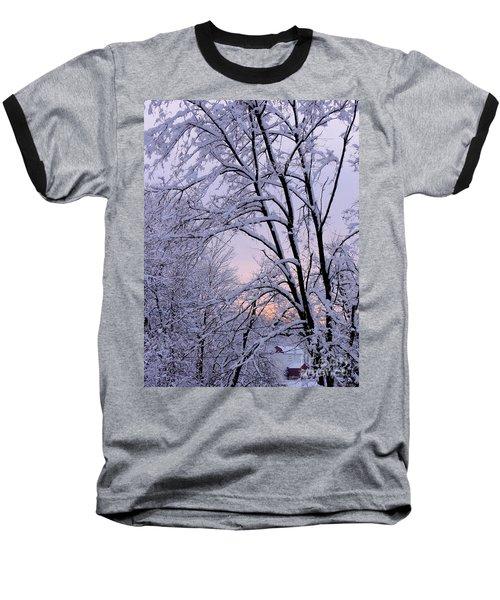 Playhouse Through Snow Baseball T-Shirt