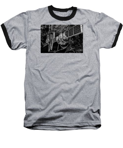 Playin The Blues Baseball T-Shirt by Kevin Cable