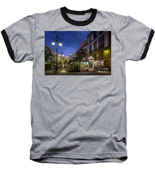 Plaza De Las Flores Cadiz Spain Baseball T-Shirt