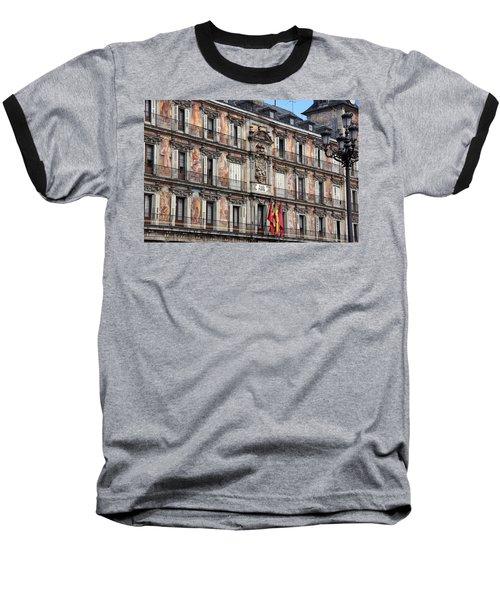 Plaza Mayor Baseball T-Shirt by Debi Demetrion