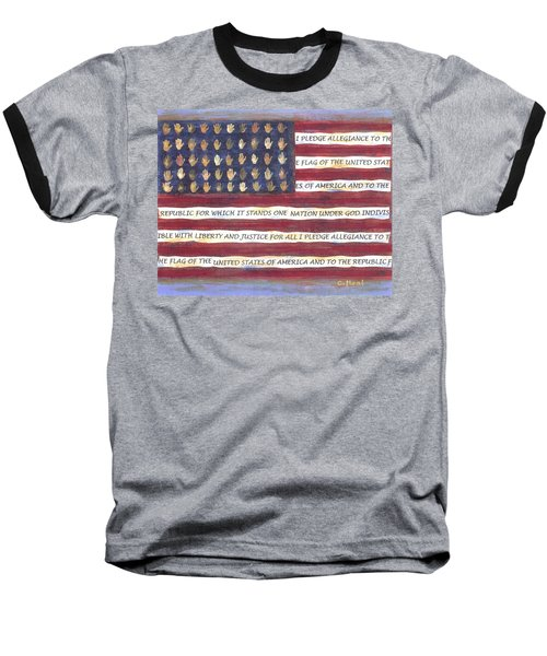 Pledge Flag Baseball T-Shirt