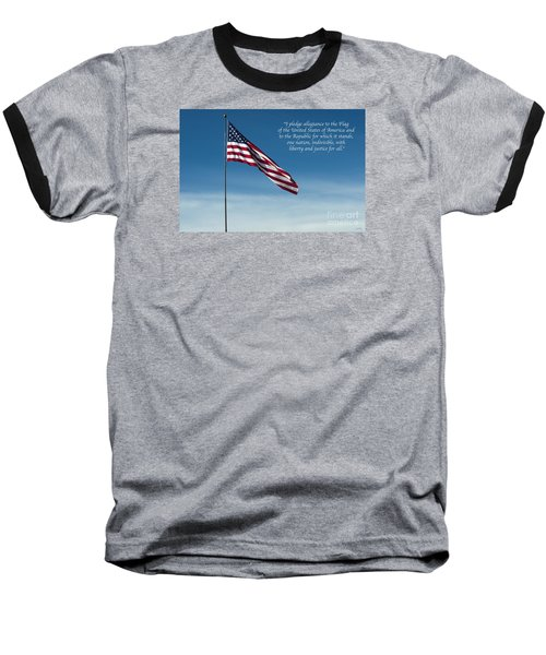 Pledge Of Allegiance Baseball T-Shirt