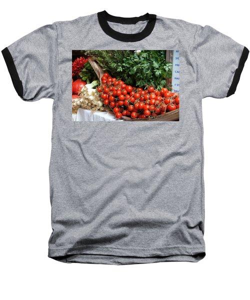 Plentiful Red Baseball T-Shirt by Debi Demetrion