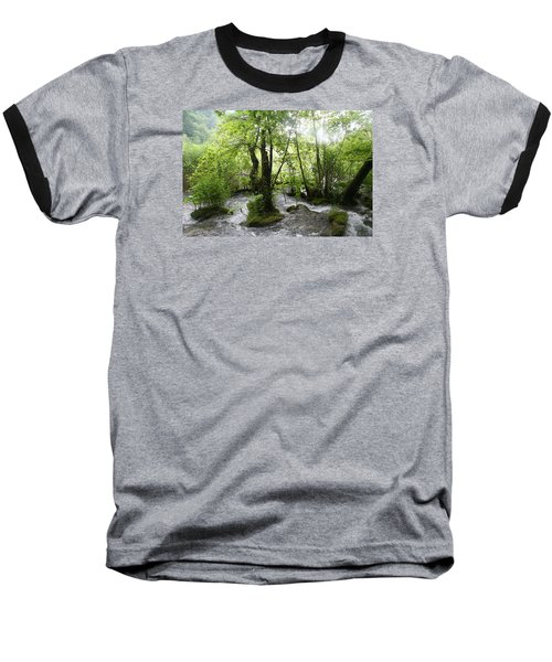 Baseball T-Shirt featuring the photograph Plitvice Lakes by Travel Pics