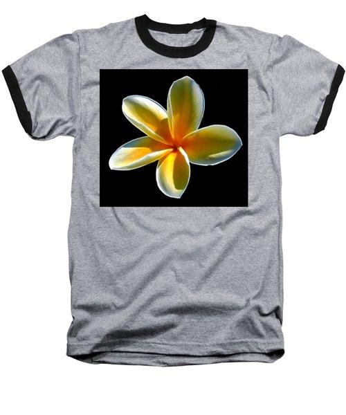 Plumeria Against Black Baseball T-Shirt