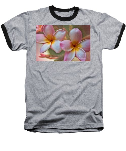 Baseball T-Shirt featuring the photograph Plumeria Pair by Peggy Hughes