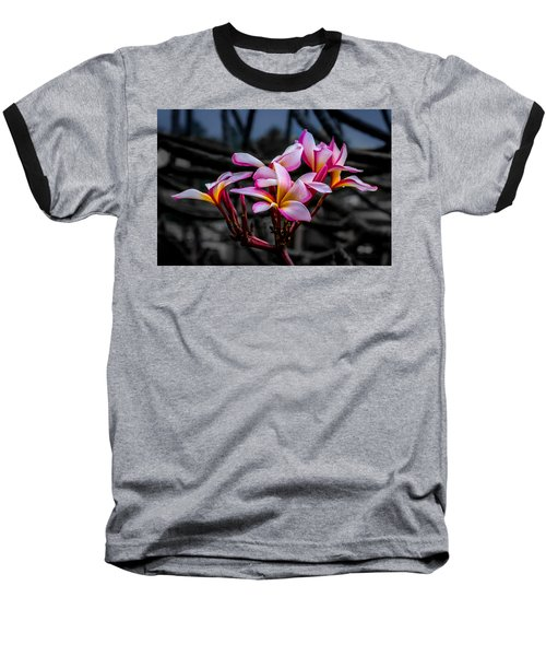 Plumeria Rainbow Ali Baseball T-Shirt