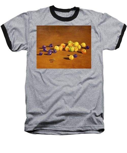 Plums And Apples Still Life Baseball T-Shirt by Alexandra Maria Ethlyn Cheshire