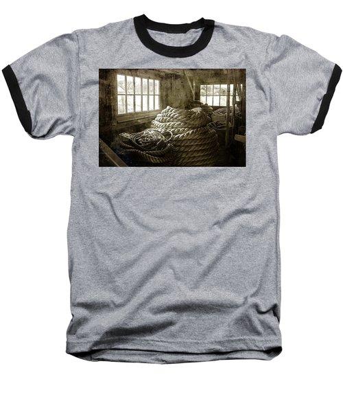 Plymouth Cordage Company Ropewalk Baseball T-Shirt
