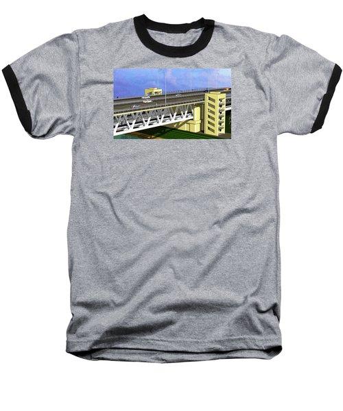 Podilsky Bridge Baseball T-Shirt by Oleg Zavarzin