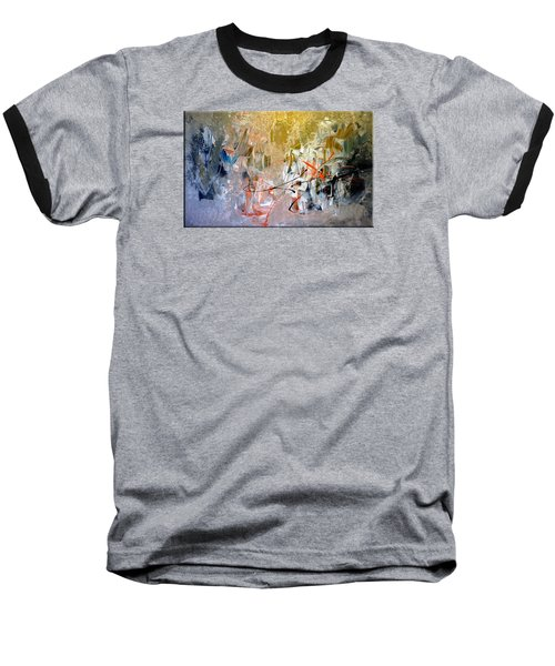 Baseball T-Shirt featuring the painting Poetry by Lisa Kaiser