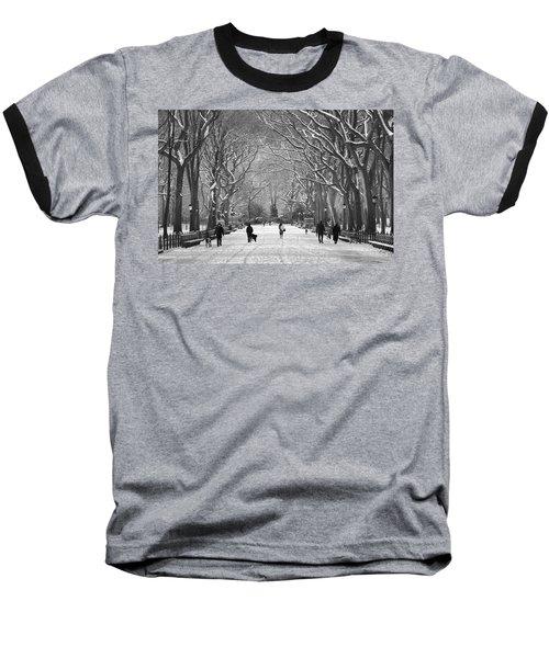 New York City - Poets Walk Winter Baseball T-Shirt