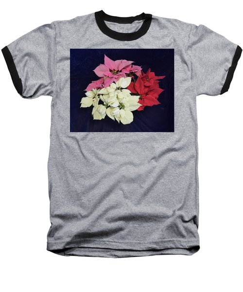 Poinsettia Tricolor Baseball T-Shirt