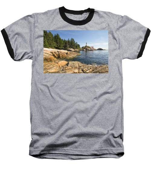 Baseball T-Shirt featuring the photograph Point Atkinson Lighthouse In Vancouver Bc by JPLDesigns