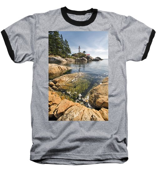 Baseball T-Shirt featuring the photograph Point Atkinson Lighthouse In Vancouver Bc Vertical by JPLDesigns