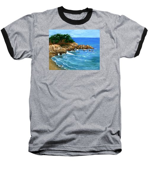 Point Lobos Coast Baseball T-Shirt by Alice Leggett