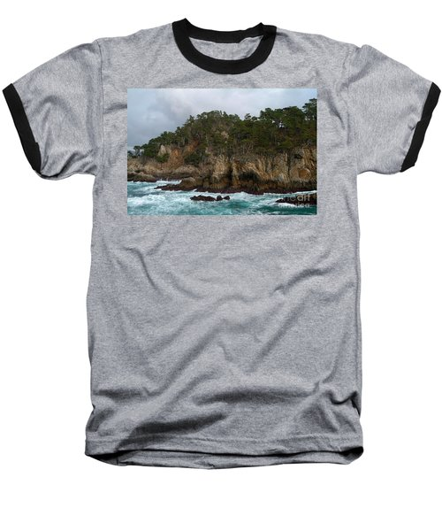 Point Lobos Coastal View Baseball T-Shirt