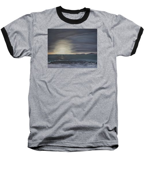 Point Mugu Sunset Baseball T-Shirt