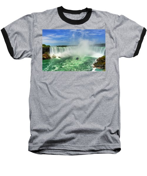 Point Of Land Cut In Two.. Baseball T-Shirt