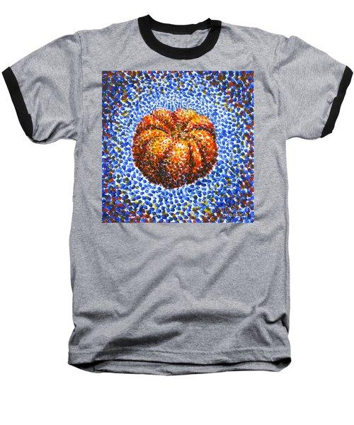 Pointillism Pumpkin Baseball T-Shirt