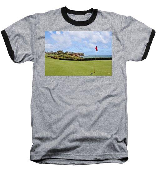 Poipu Bay #16 Baseball T-Shirt by Scott Pellegrin