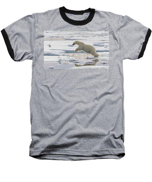 Polar Bear Jumping  Baseball T-Shirt
