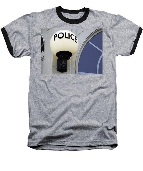 Police Station Baseball T-Shirt by Phil Cardamone