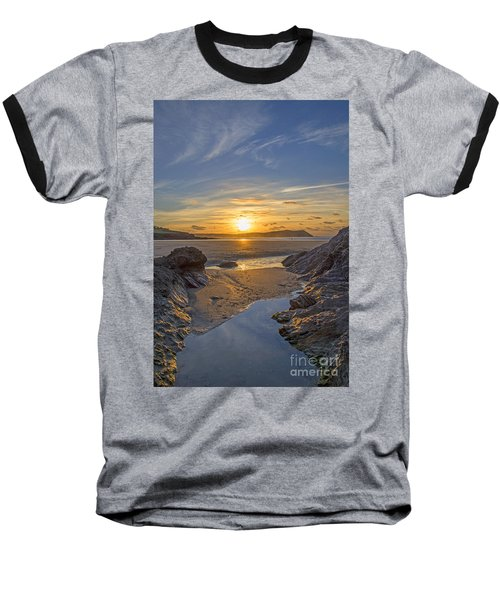 Polzeath Sunset Baseball T-Shirt