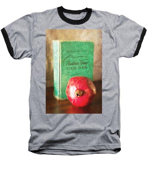 Pomegranate And Vintage Cook Book Still Life Baseball T-Shirt