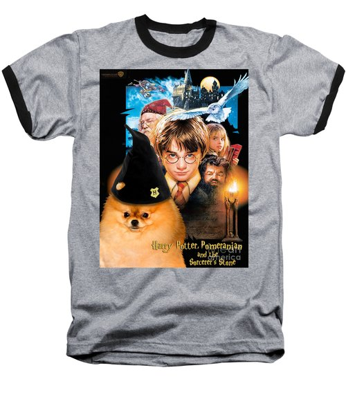 Pomeranian Art Canvas Print - Harry Potter Movie Poster Baseball T-Shirt