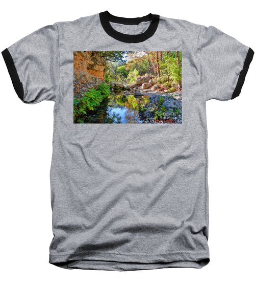 Pond At Lost Maples Baseball T-Shirt