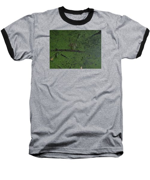 Baseball T-Shirt featuring the photograph Pond Eyes by Robert Nickologianis