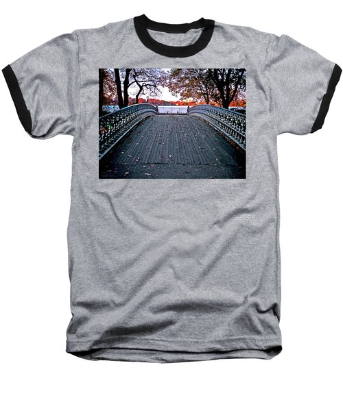 Pond Footbridge Baseball T-Shirt