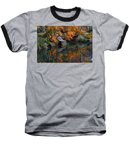 Pond In Autumn Baseball T-Shirt