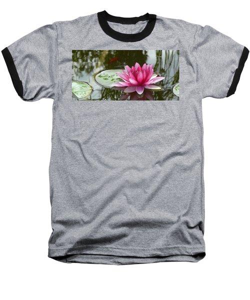 Pond Magic Baseball T-Shirt by Evelyn Tambour