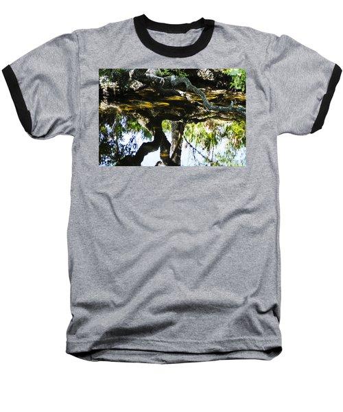 Pond Reflection Baseball T-Shirt