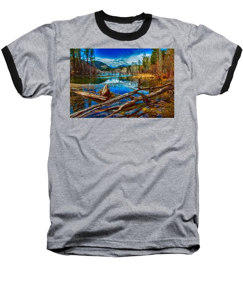 Pondering A Mountain Baseball T-Shirt