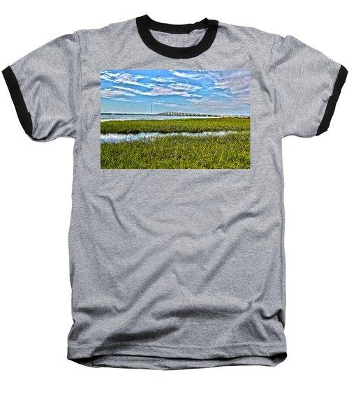 Ponquogue Bridge Baseball T-Shirt