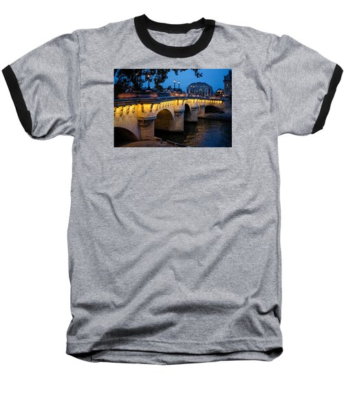 Pont Neuf Bridge - Paris France I Baseball T-Shirt