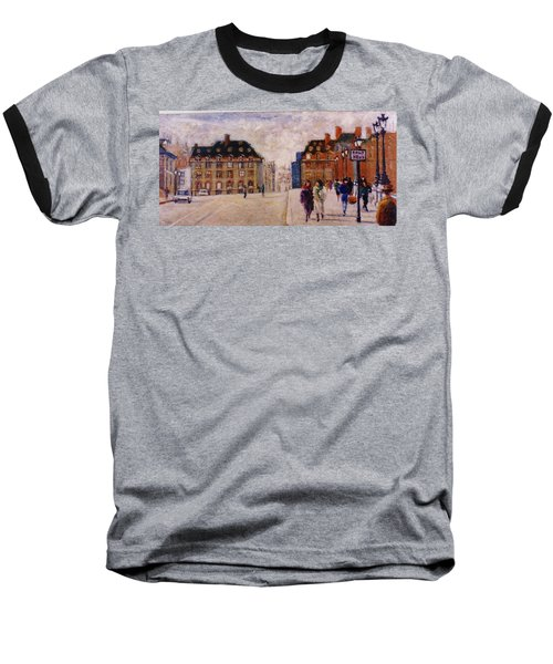 Baseball T-Shirt featuring the painting Pont Neuf by Walter Casaravilla