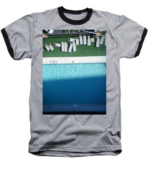 Poolside Upside Baseball T-Shirt by Brian Boyle