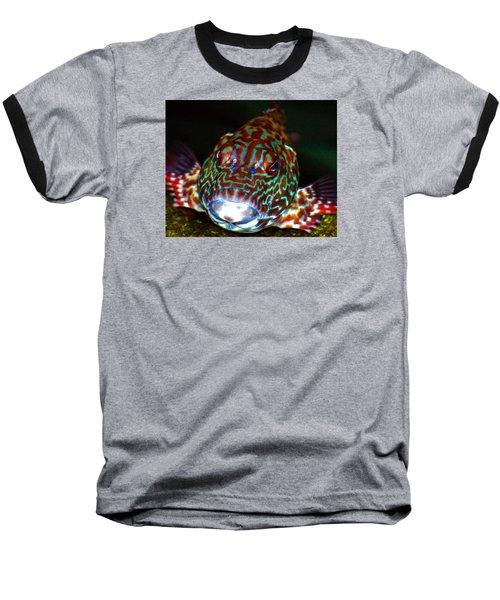 Poopaa Hawaiian Hawk Fish Baseball T-Shirt