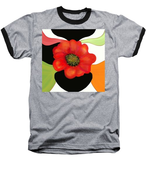 Pop Poppy Baseball T-Shirt