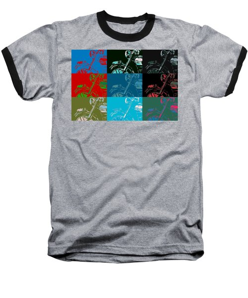 Popart Motorbike Baseball T-Shirt