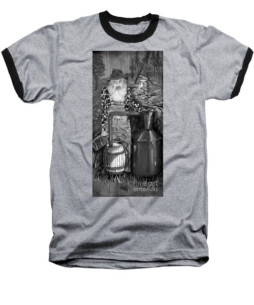 Popcorn Sutton - Black And White - Legendary Baseball T-Shirt