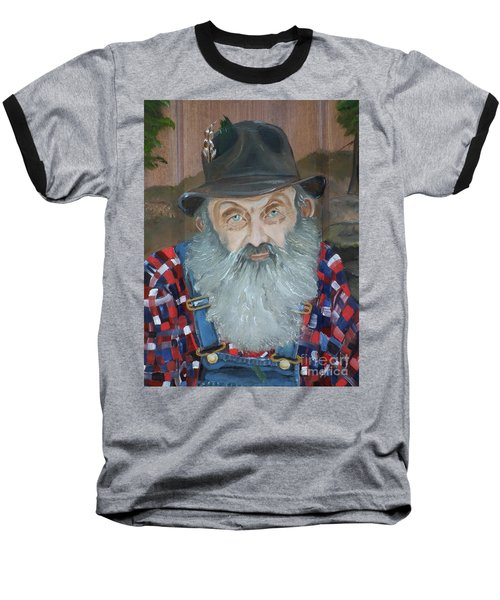 Popcorn Sutton - Moonshiner - Portrait Baseball T-Shirt